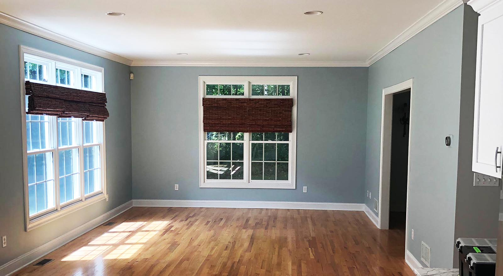 Interior painting done by the painters at Coastline Painters