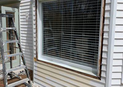 Window Repair Carpentry in Essex CT _ Before done by Coastline Painters