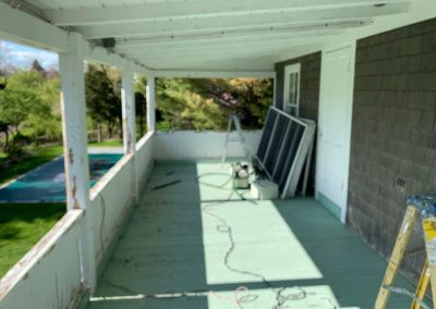 Porch and Deck Painting in Madison CT - Before