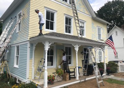 Exterior Painting In Process Essex CT