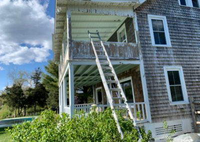Porch And Exterior Painting in Madison CT - Before